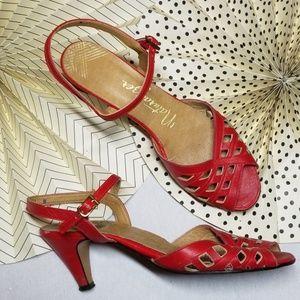 Vintage 50's 60's Naturalizer Sling Back Sandals